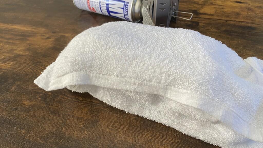 タオルで蒸らす