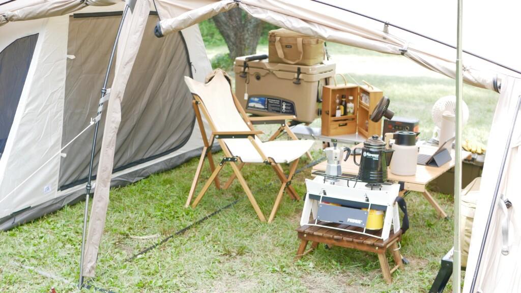 快適なソロキャンプ